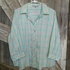 Foxcroft button down top-wrinkle free-size 16